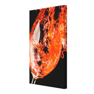 Red Wine Splash Canvas Print