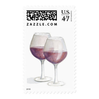 red wine stamp