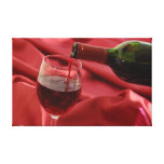 Red Wine Stretched Canvas Print