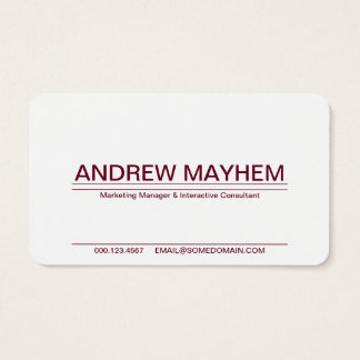 red wine striped business card