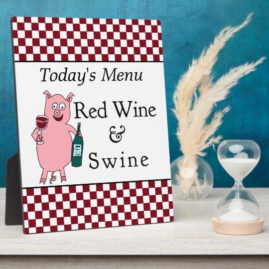 Red Wine & Swine Menu Plaque