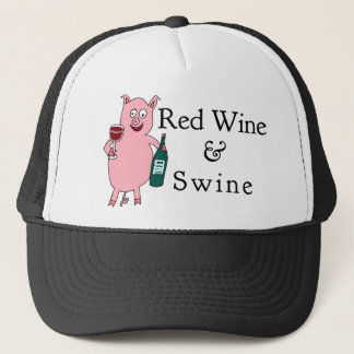 Red Wine & Swine Trucker Hat
