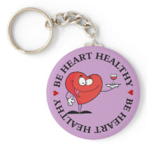 Red Wine Toast to Heart Health Keychain