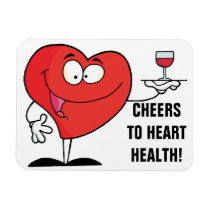 Red Wine Toast to Heart Health Magnet