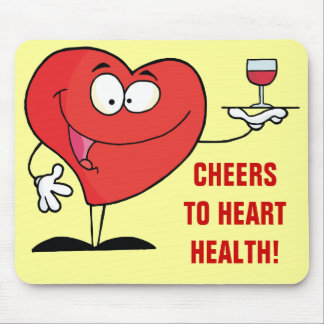 Red Wine Toast to Heart Health Mouse Pad