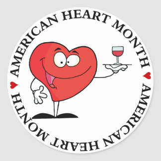 Red Wine Toast to Heart Health Sticker