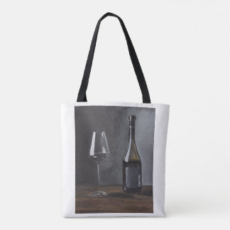Red Wine Tote Bag (Still Life #2 by Desi Cameron)