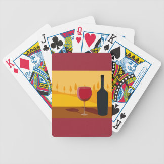 Red wine Tuscany Bicycle Playing Cards