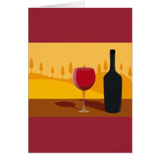 Red wine Tuscany Card