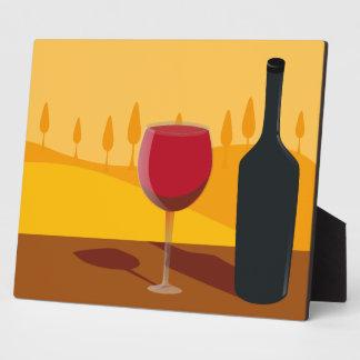 Red wine Tuscany Plaque