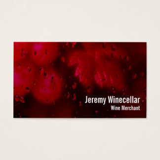 Red wine vineyard business card