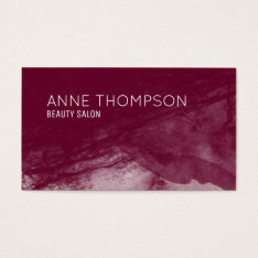 Red-wine Watercolored Professional Business Card at Zazzle