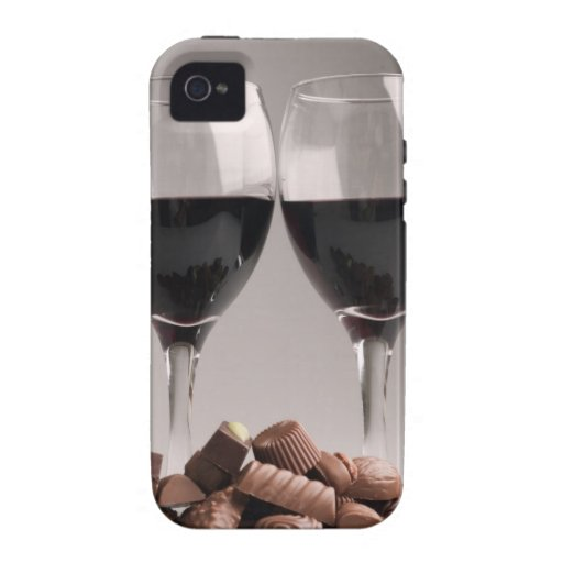 red wine with chocolates iPhone 4/4S case