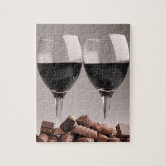 red wine with chocolates jigsaw puzzle