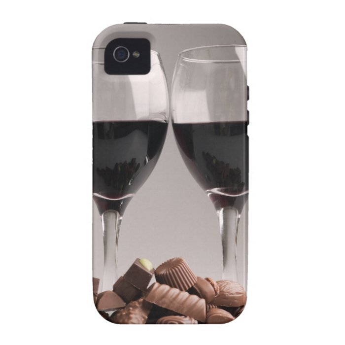 red wine with chocolates vibe iPhone 4 case
