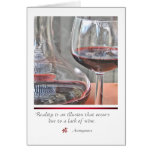 RED WINE with quote card