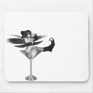 Red Wing Freaky Fairy Girl Martini Glass 3D Mouse Pad