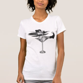 Red Wing Freaky Fairy Girl Martini Glass 3D T Shirts