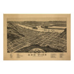 Red Wing Minnesota 1880 Antique Panoramic Map Print