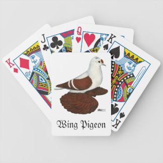 Red Wing Pigeon Bicycle Playing Cards