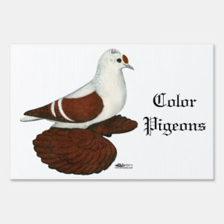 Red Wing Pigeon Lawn Sign