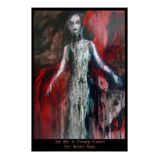 Red Winged Angel Posters