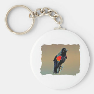 Red-winged Blackbird Art Key Chains