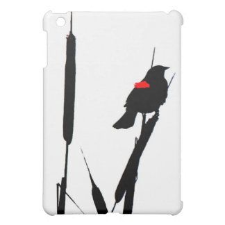 Red-winged Blackbird in Cat-tails iPad Mini Covers