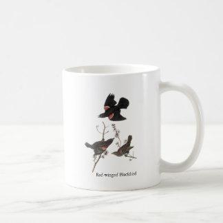 Red-Winged Blackbird, John Audubon Mug