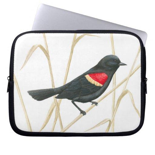 Red-Winged Blackbird Laptop Sleeve