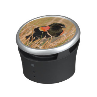 Red-winged Blackbird male singing Bluetooth Speaker