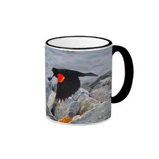 RED-WINGED BLACKBIRD - mug