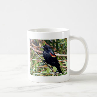 Red-winged blackbird coffee mug