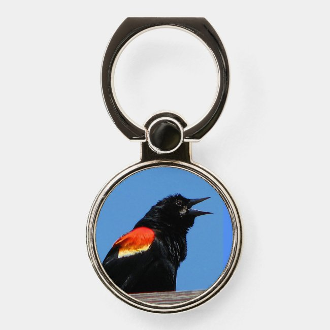 Red-winged Blackbird Phone Ring Holder