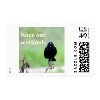 Red-winged Blackbird Postage