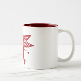 Red winged elephant mug