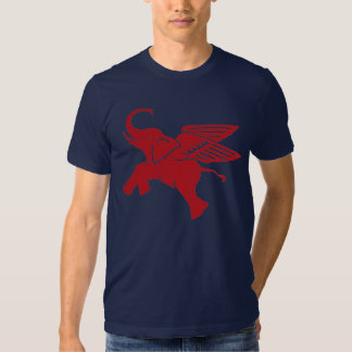 Red winged elephant t shirt