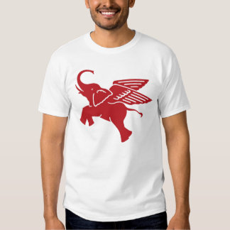 Red winged elephant tee shirt