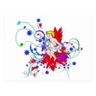 Red Winged Faerie (Fairy) Postcard