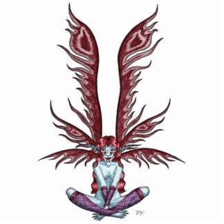 Red Winged Faerie Statuette