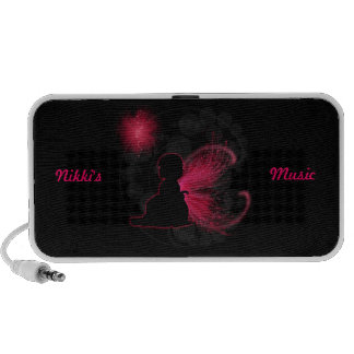 Red Winged Fairy Doodle Speaker
