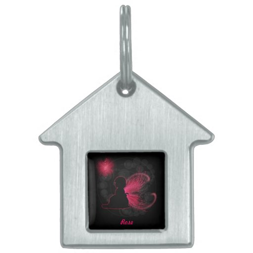 Red Winged Fairy Pet Tag