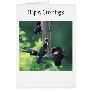 Red Winged Greeting Card