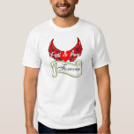 Red Winged Heart, Gold Scroll, Fred & Amy, Forever T-Shirt