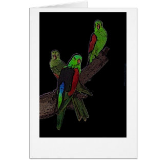 Red Winged Parrot card