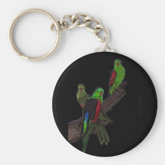 Red Winged Parrot keychain