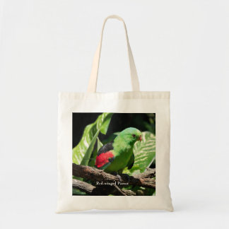 Red-winged Parrot on Tree Limb Tote Bag