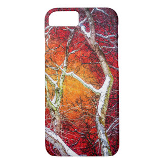 Red winter night iPhone 8/7 case