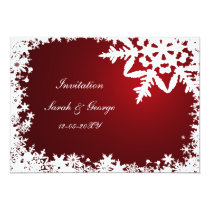 red winter wedding Invitation cards