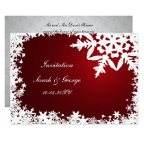 red winter wedding Invitation cards